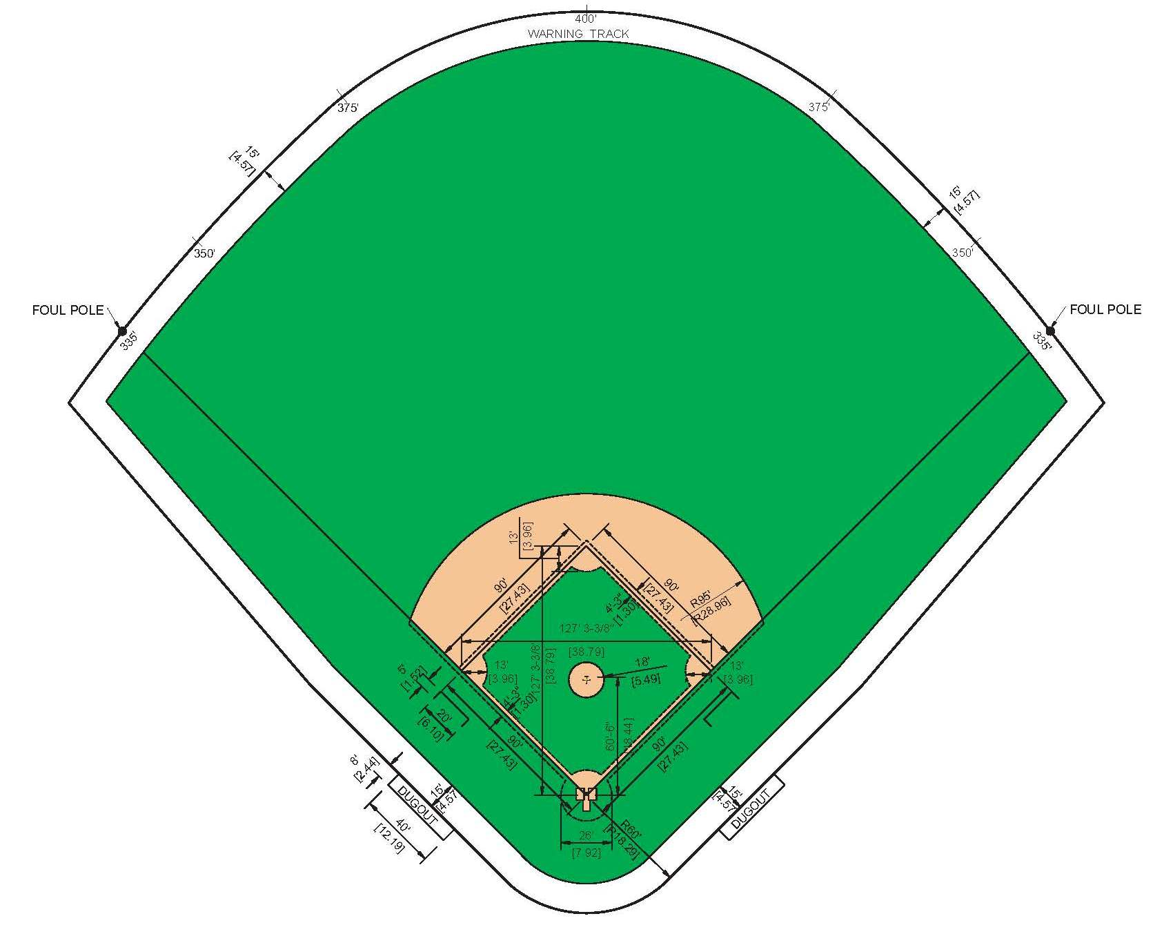 Free Picture Of A Baseball Field Download Free Clip Art