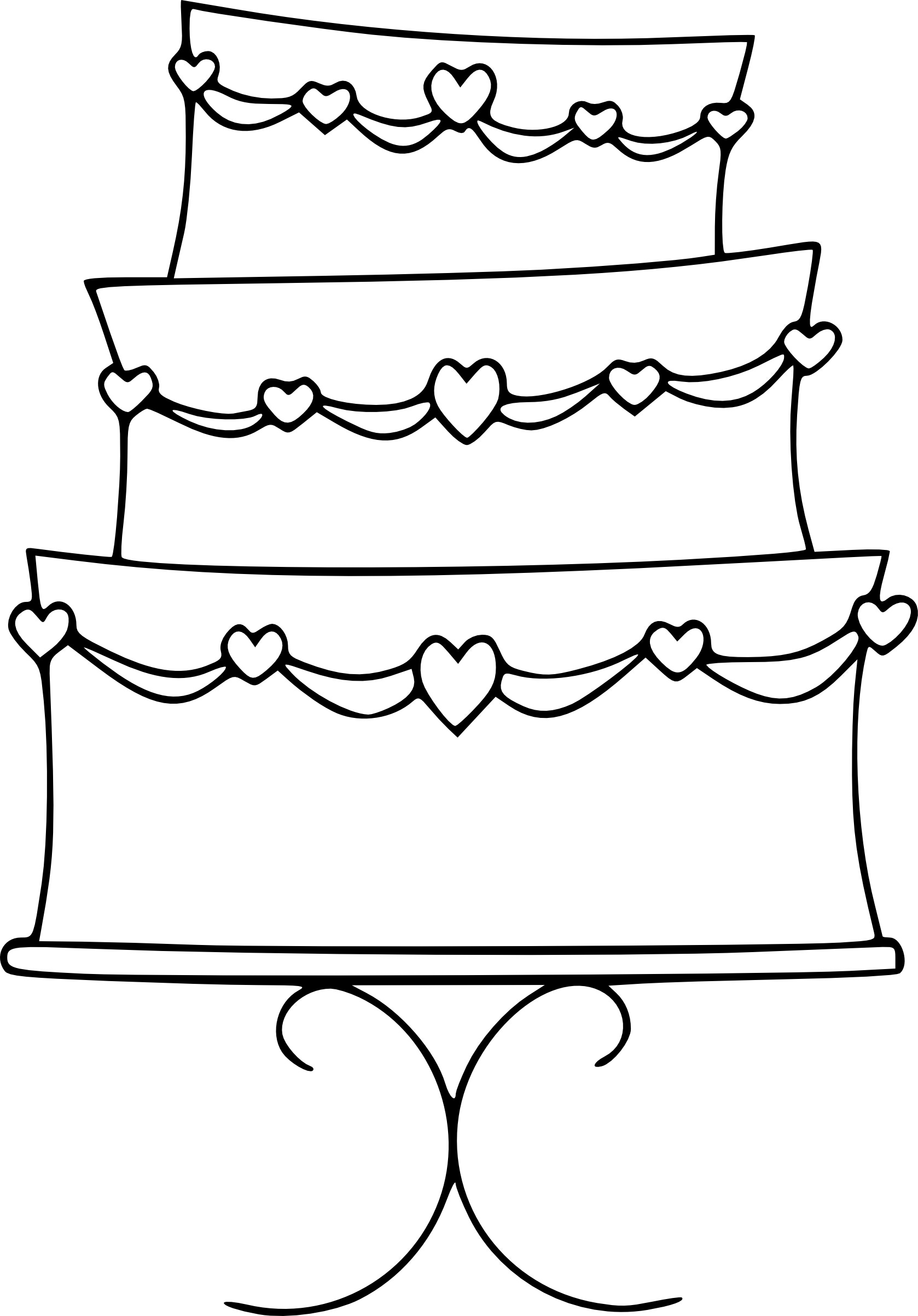 Free Birthday Cake Outline Download Free Clip Art Free