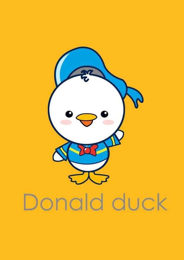 Cute Donald Duck Fan Art By IvanYeoRongSuan Shadowness