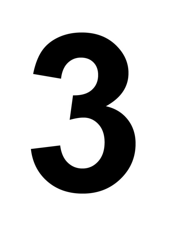 number 3 # 38