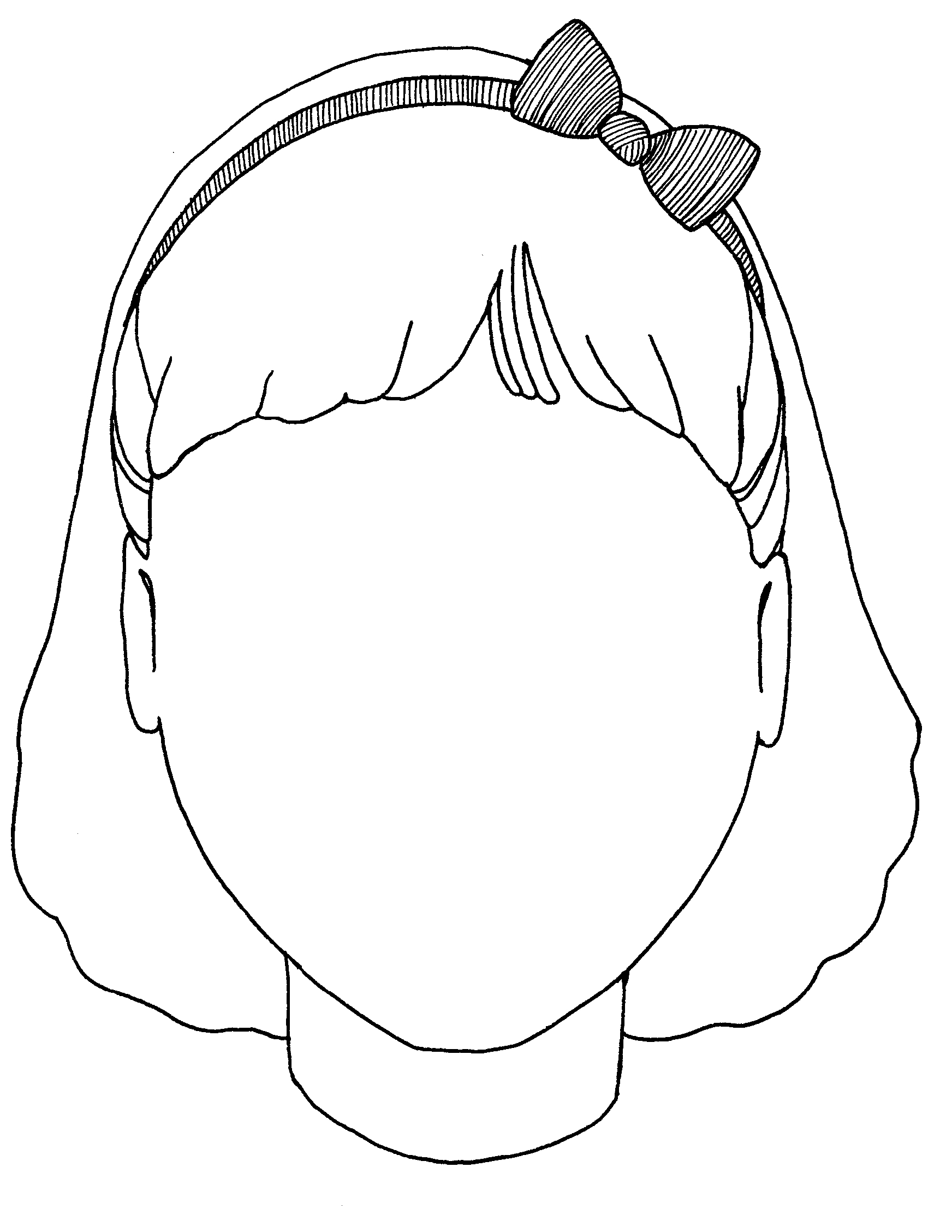 Free Outline Of A Girls Face Download Free Clip Art Free
