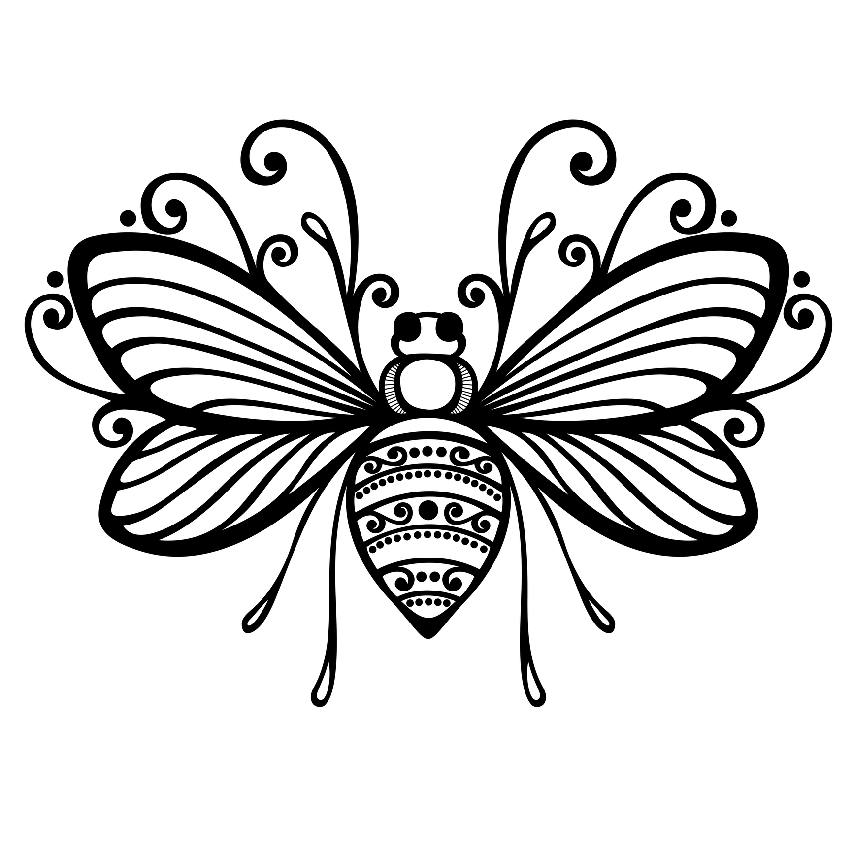 Free Bee Outline Download Free Clip Art Free Clip Art On