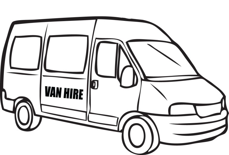 Free coloring pages of vans - Clip Art Library