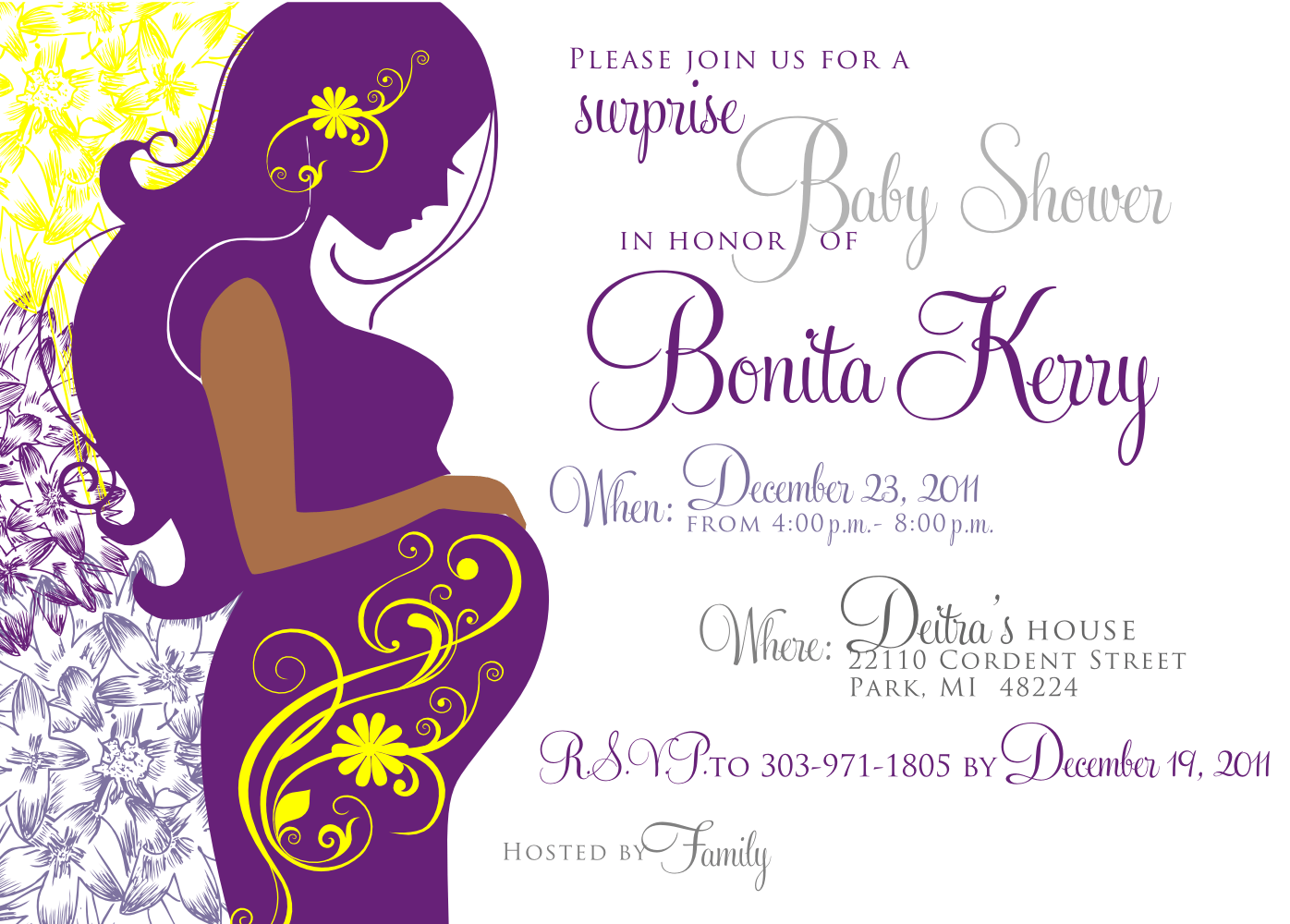 Signatures By Sarah Baby Shower Invite And Stationery For Vanessa