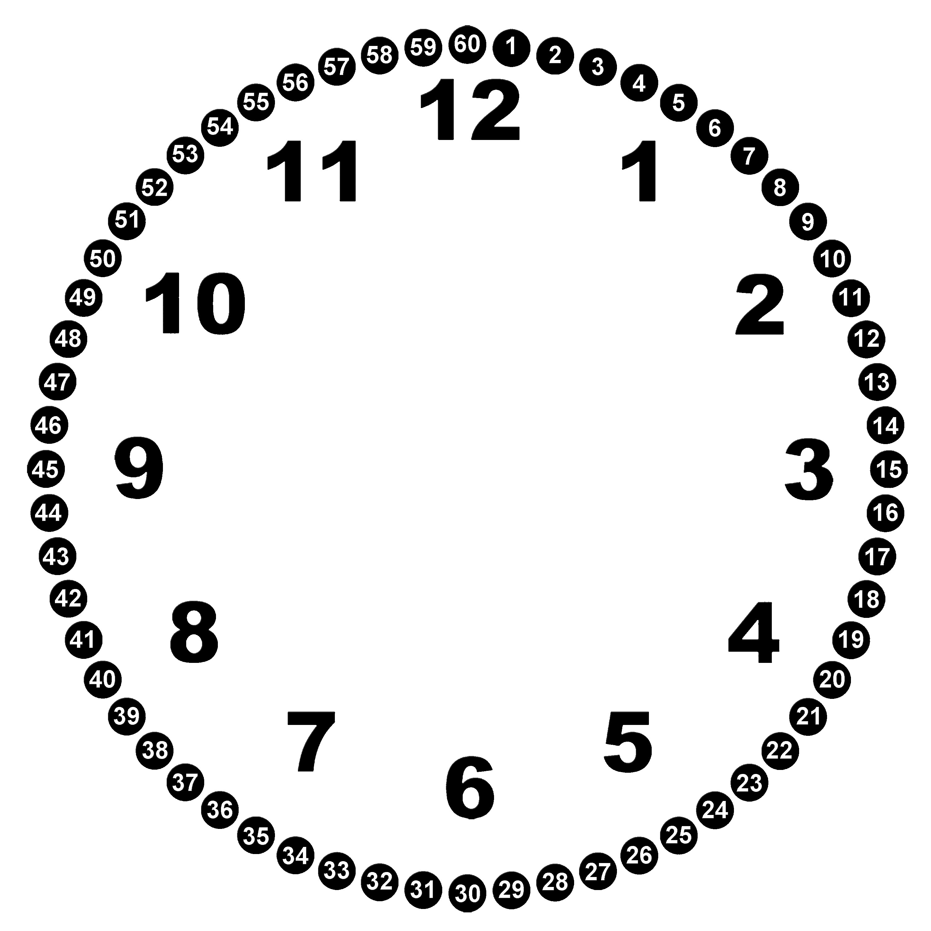 Images For Clock Face Template For Kids