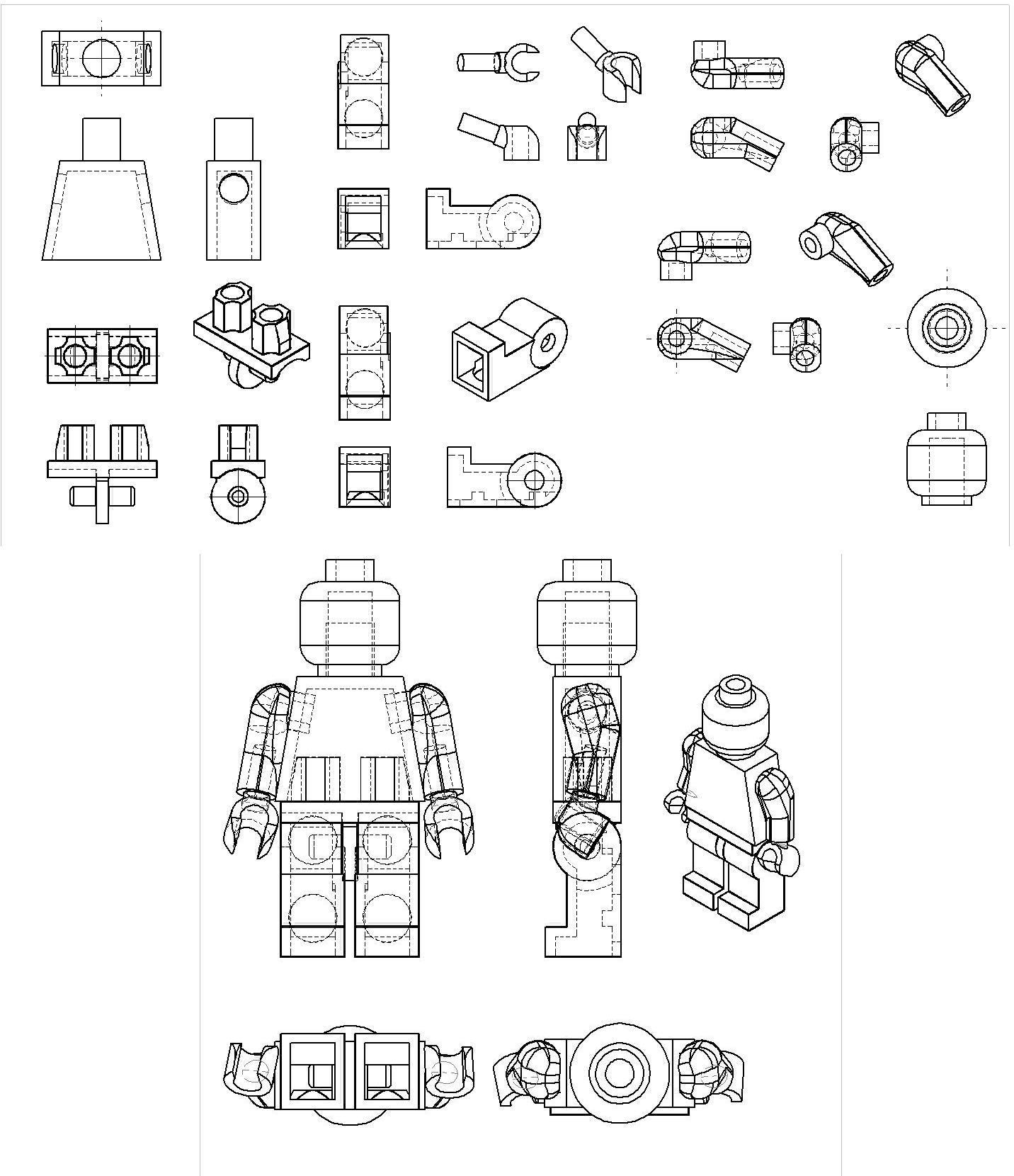 Free Lego Man Black And White Download Free Clip Art
