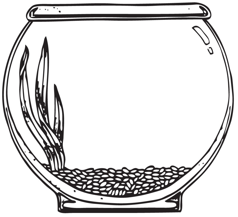 Fish Bowl Coloring Page Free Coloring Pages Clip Art Library