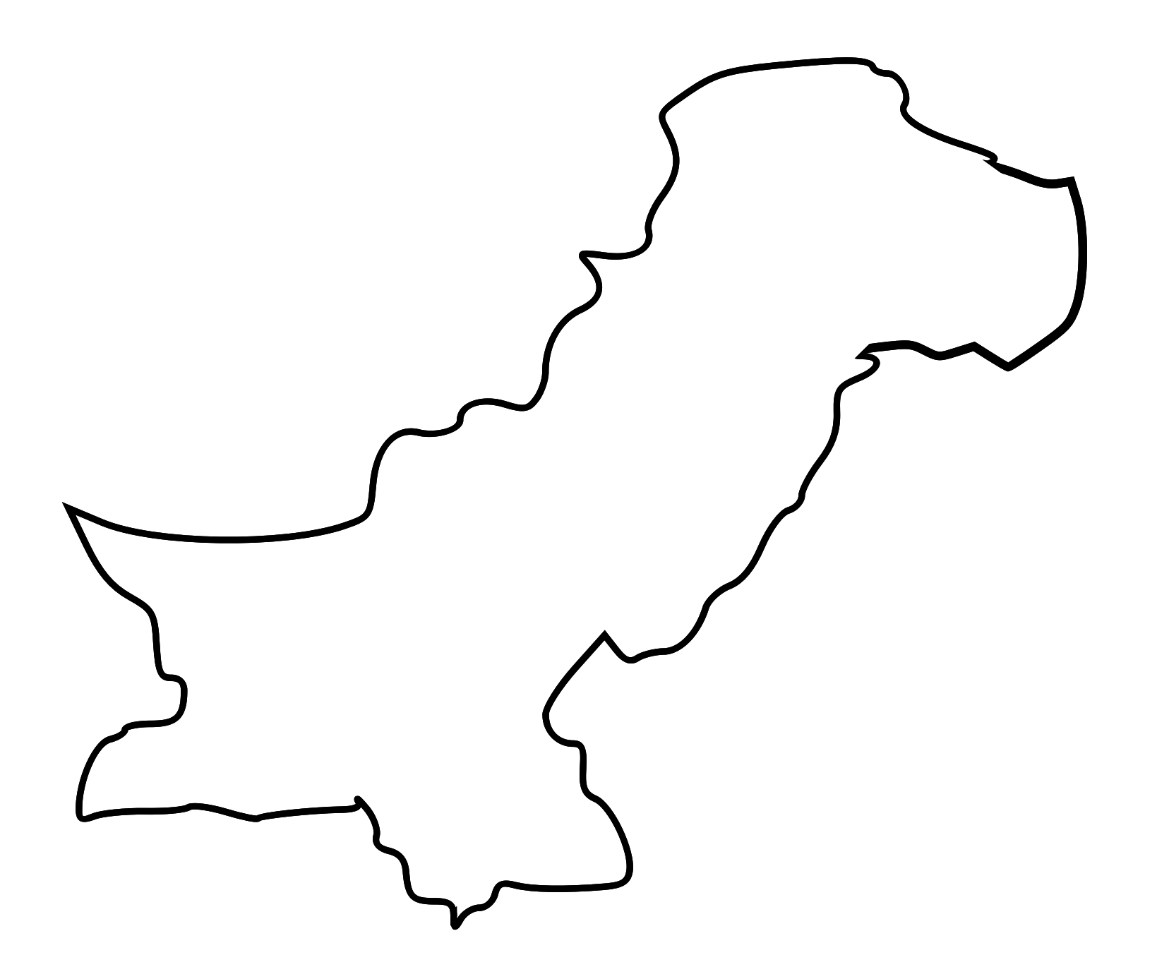 Free Pakistan Map Outline Download Free Clip Art Free