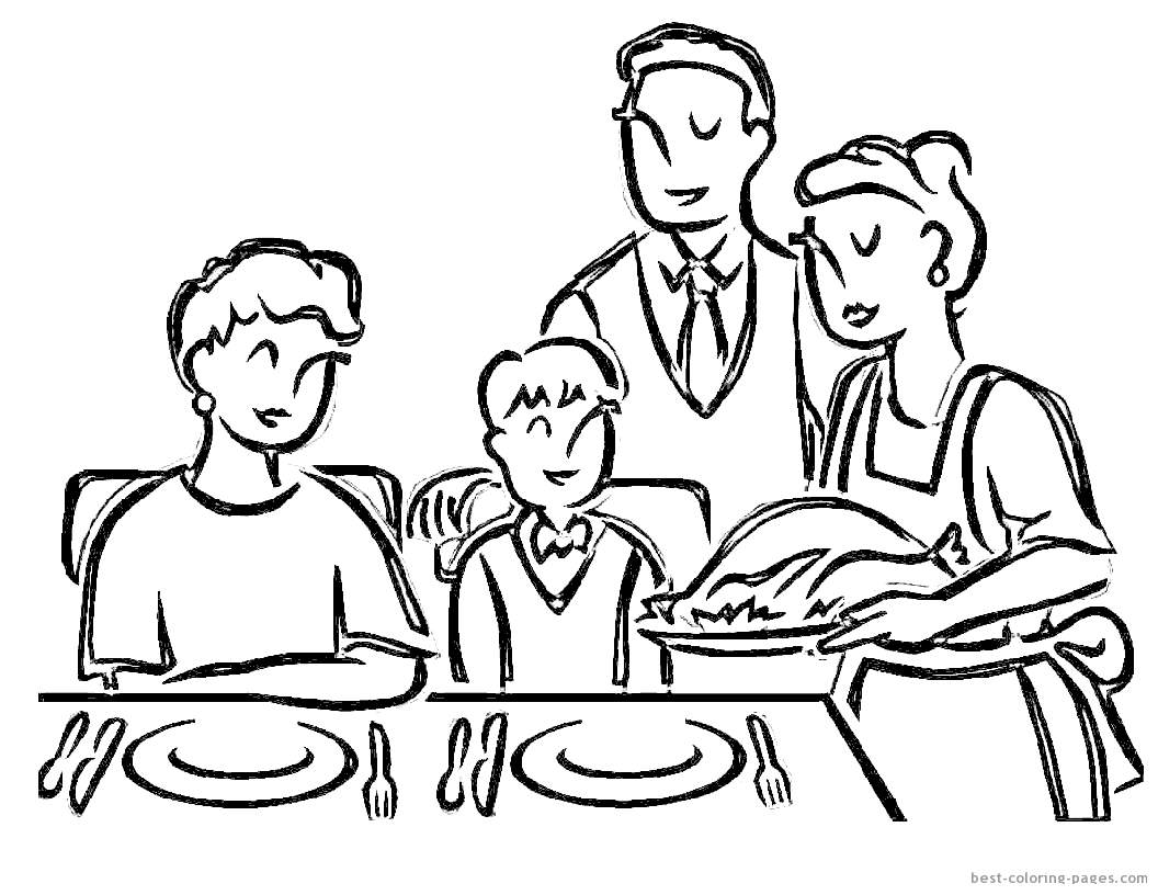 Trends For Cooked Turkey Coloring Pages