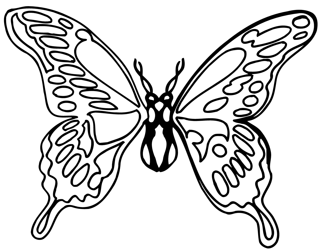 Black And White Coloring Page Of Monarch Butterfly Yooall