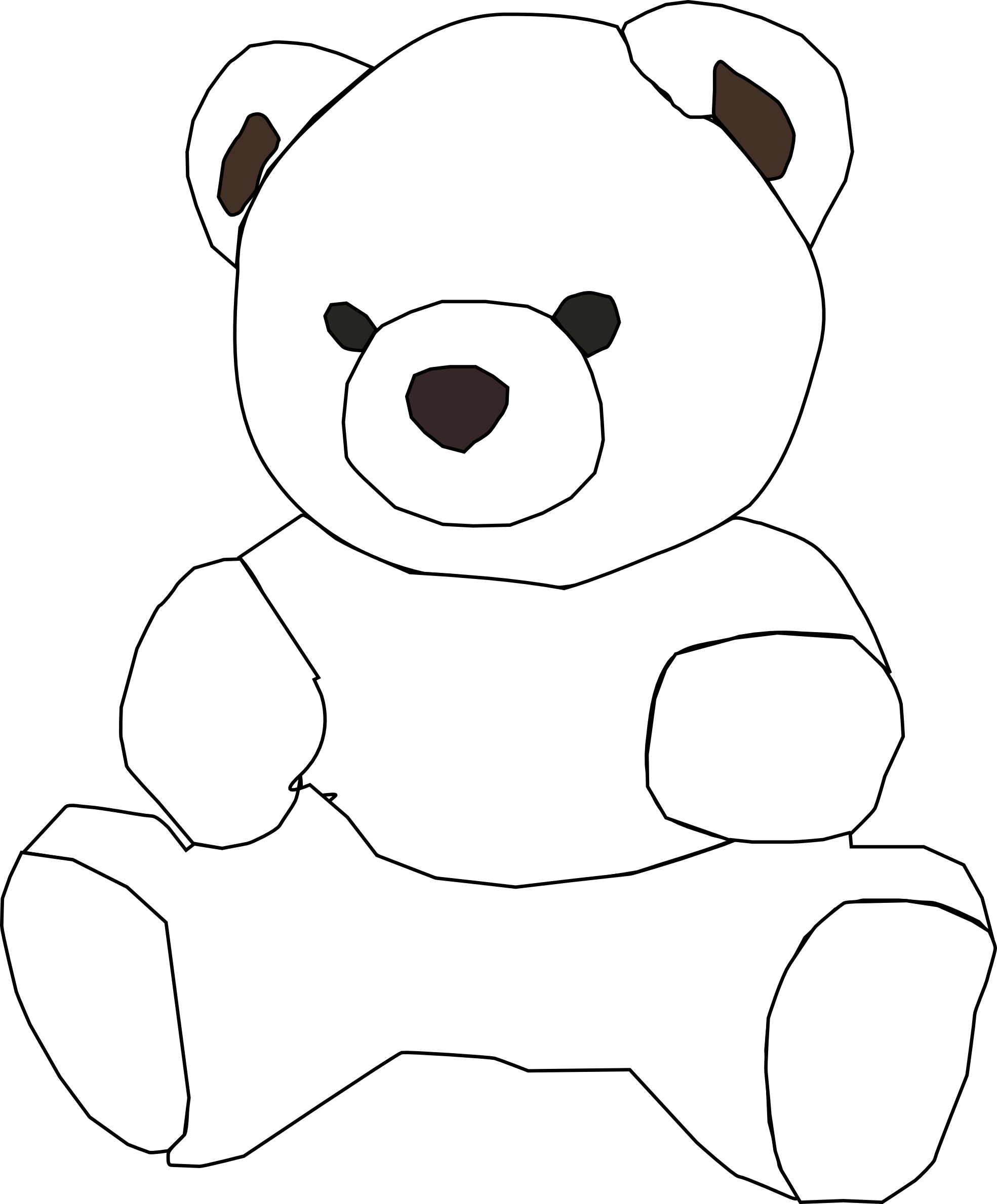 Free Teddy Bear Outline Download Free Clip Art Free Clip