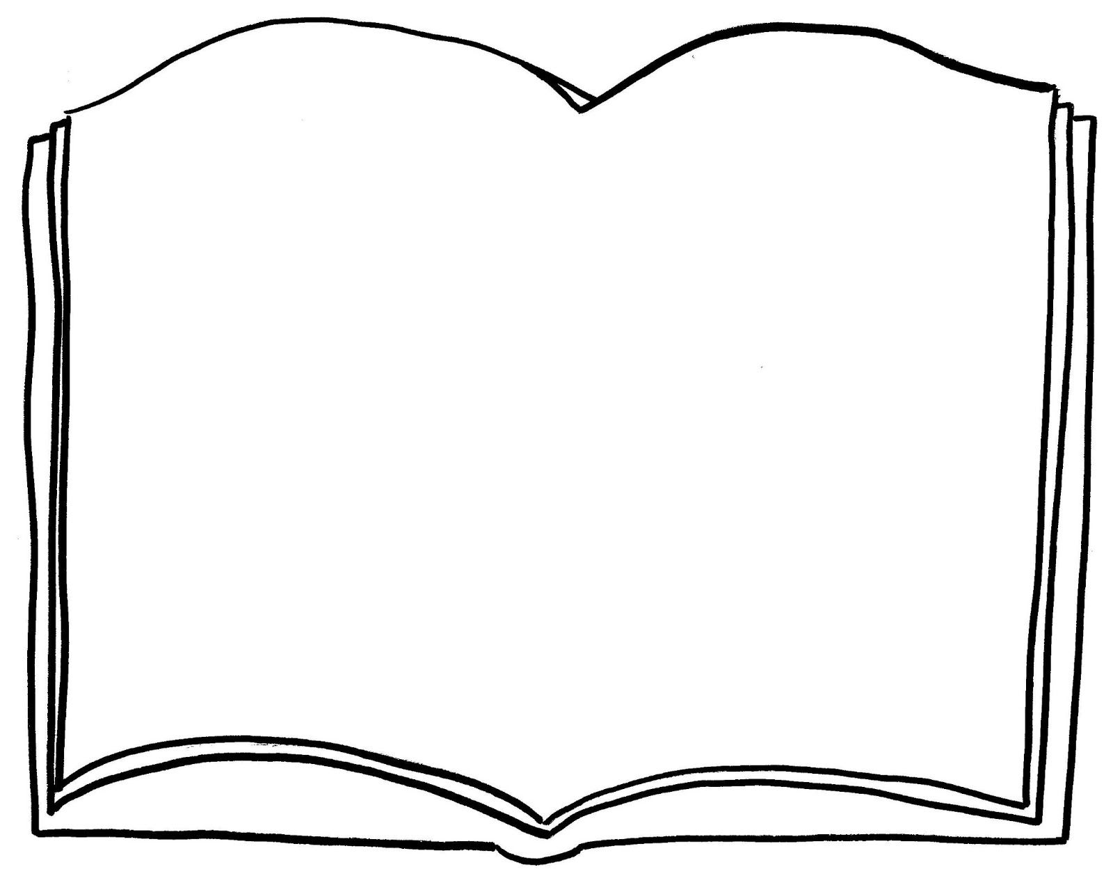 Open Book Outline Clipart