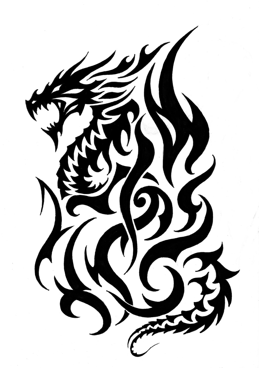 Free Fire Breathing Dragon Tattoos Download Free Clip Art