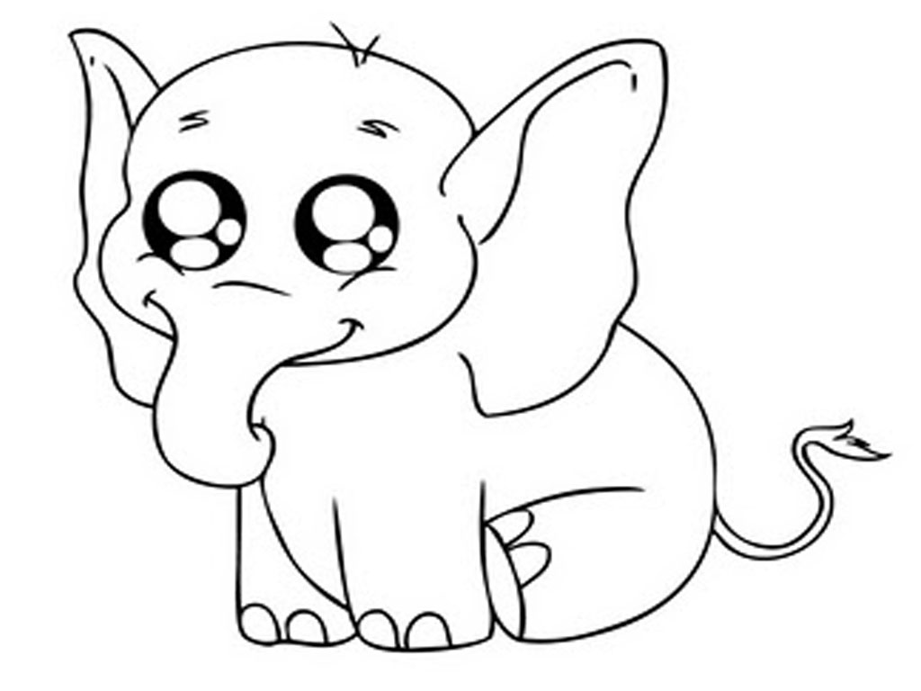 Animals Printable Elephants Coloring Pages Realistic Picture