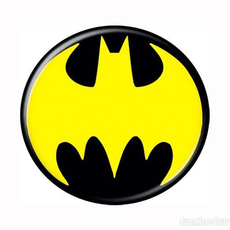 Batman Yellow Symbol Button