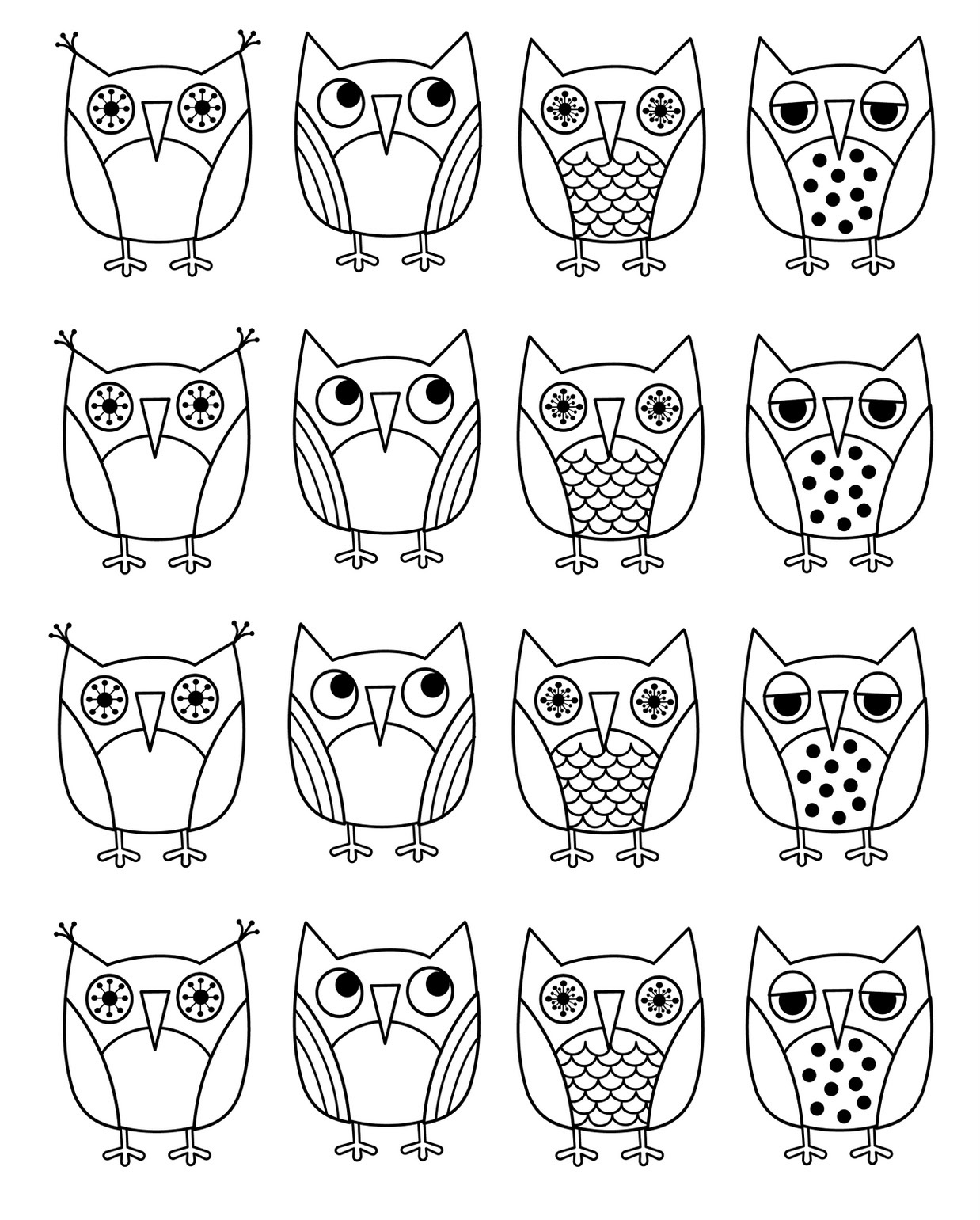 New Coloring Pages Barred Owl And Northern Saw Whet Owl In
