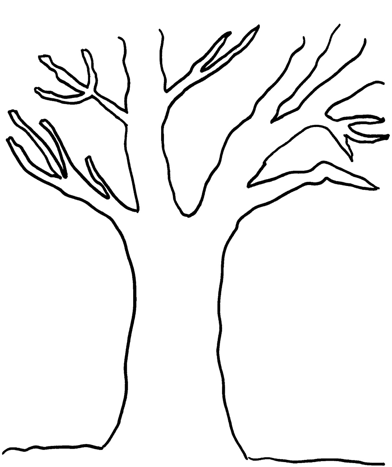 Tree Without Leaves Template