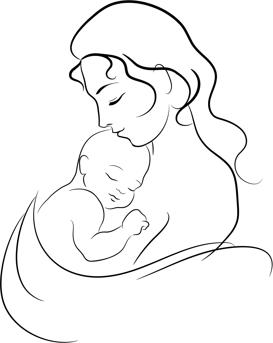 Free Mother And Child Drawing Download Free Clip Art