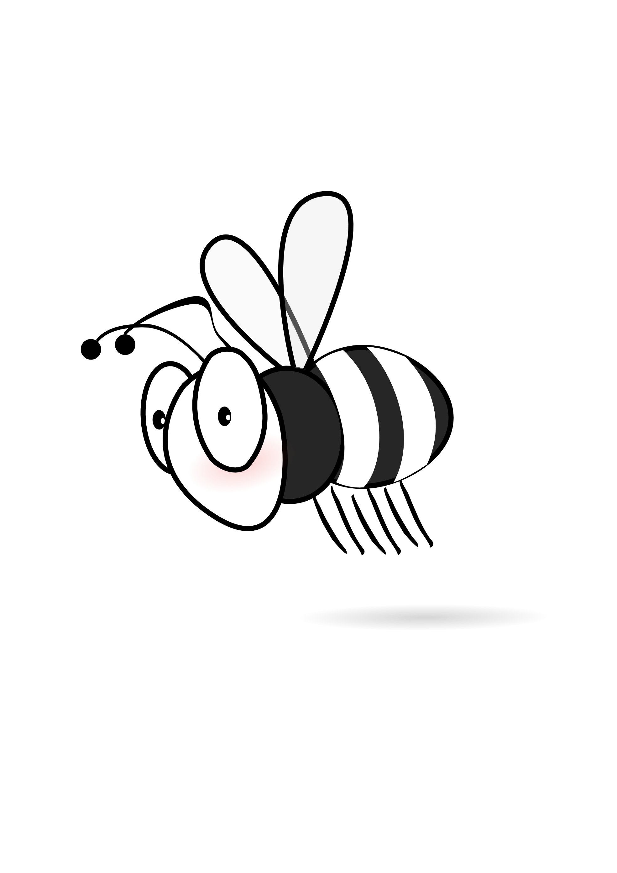 Bee 20 Black White Line Art Scalable Vector Graphics Svg