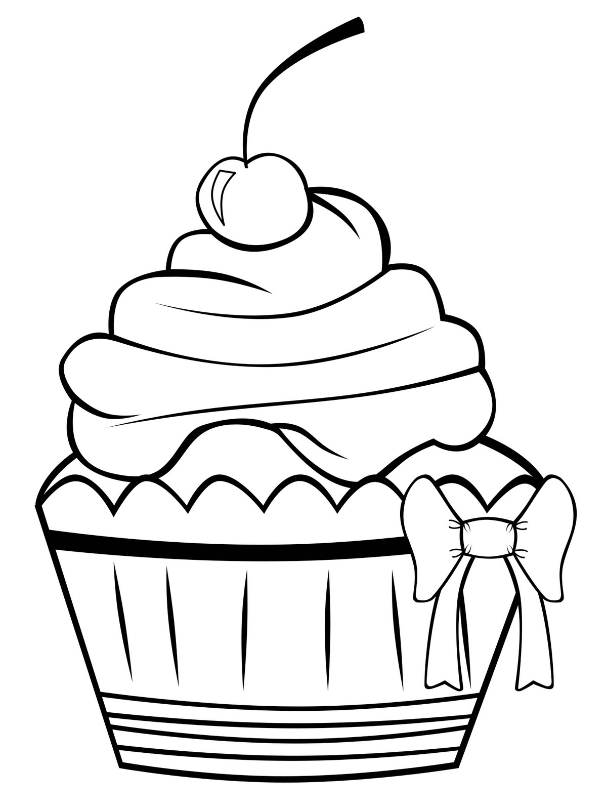 Free Cupcake Outline Download Free Clip Art Free Clip