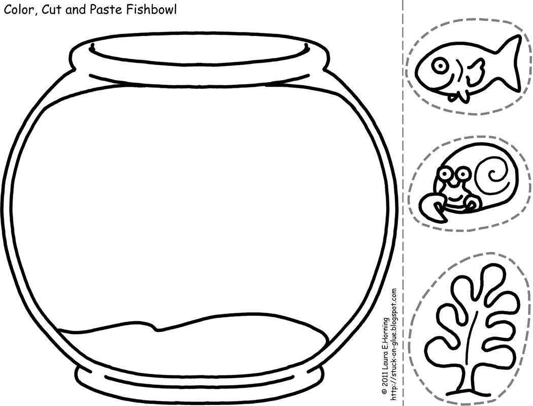 Free Fish Bowl Coloring Sheet Download Free Clip Art