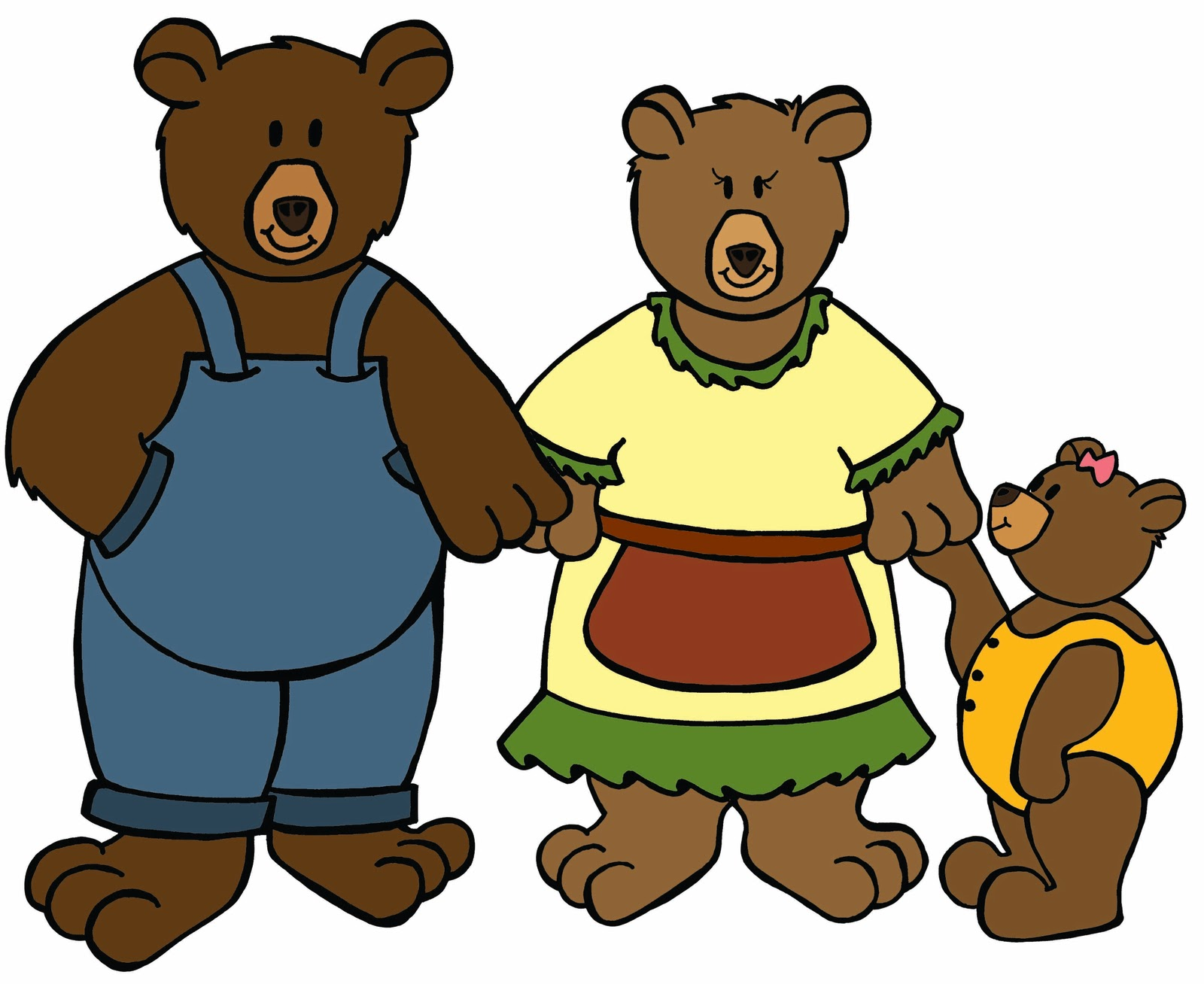 Free Goldilocks And The Three Bears Clipart Download Free