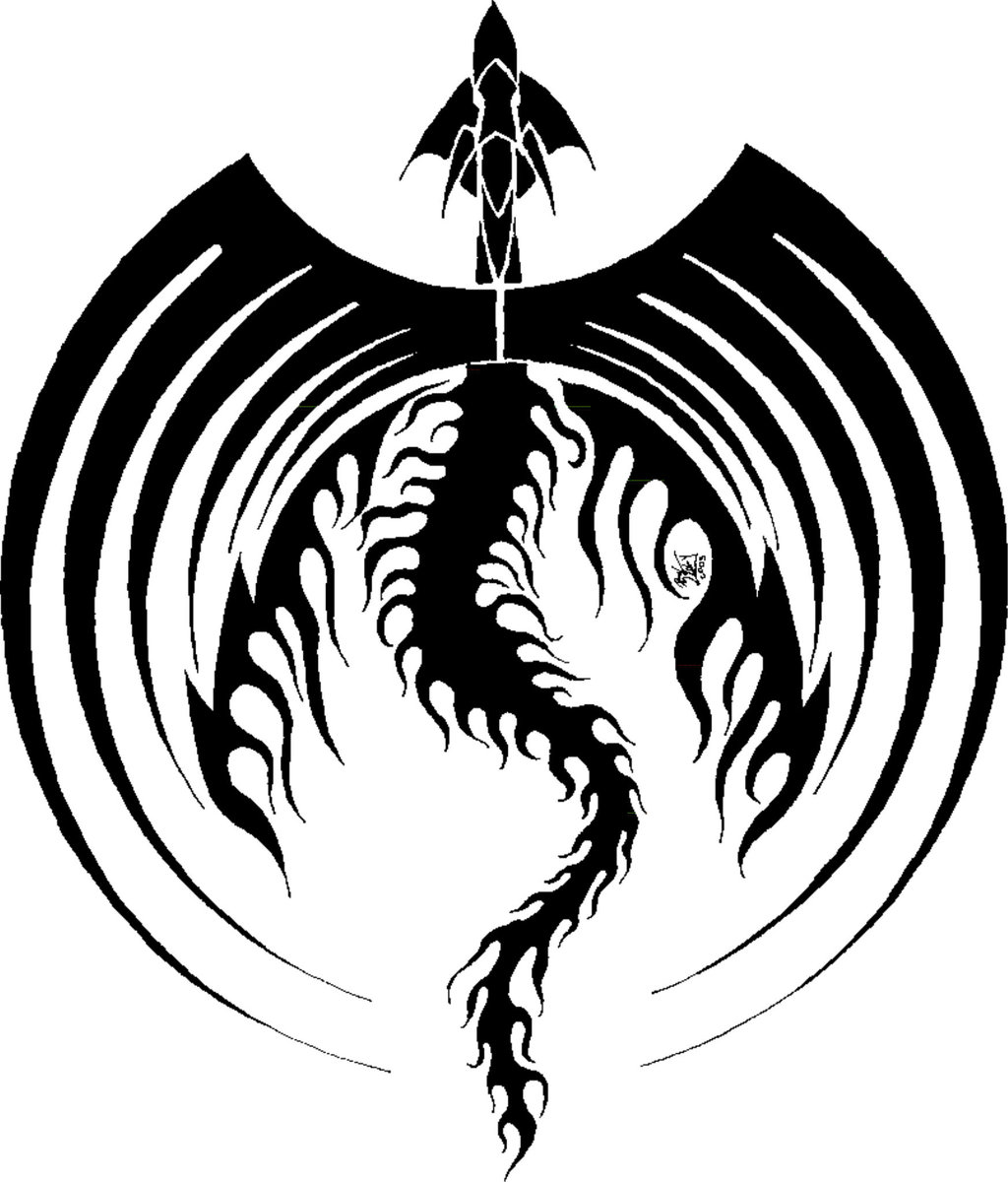 Clipart Library More Like Black Dragon Tribal Wings By