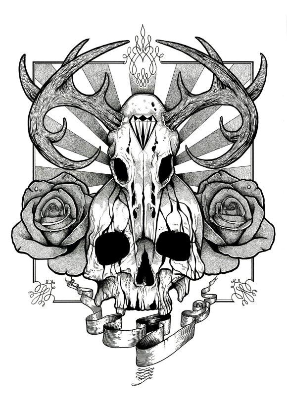 Free Free Skull Tattoo Designs, Download Free Clip Art ...