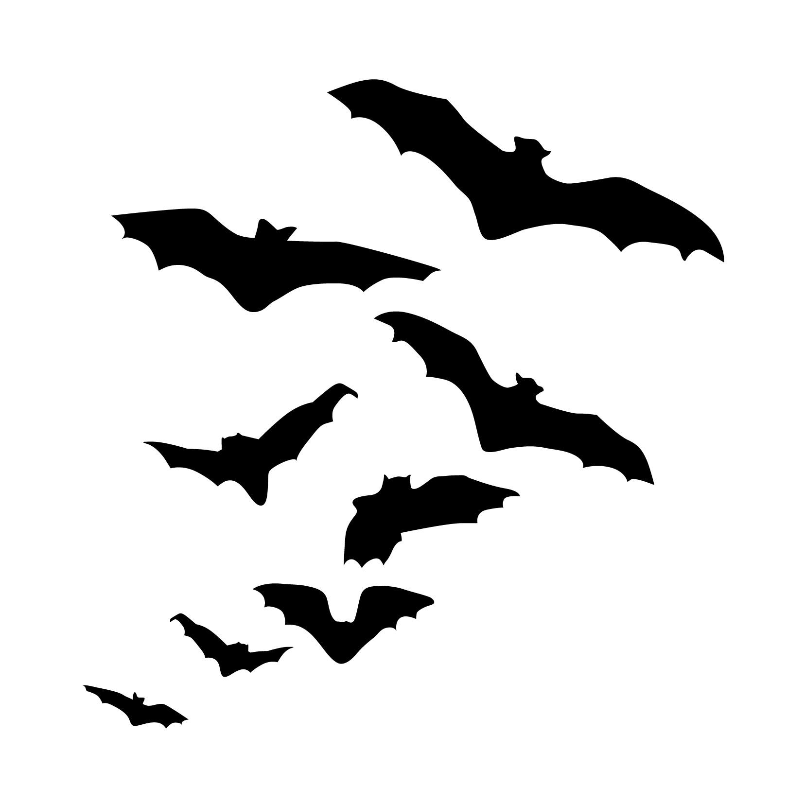 Halloween Flock Of Flying Bats