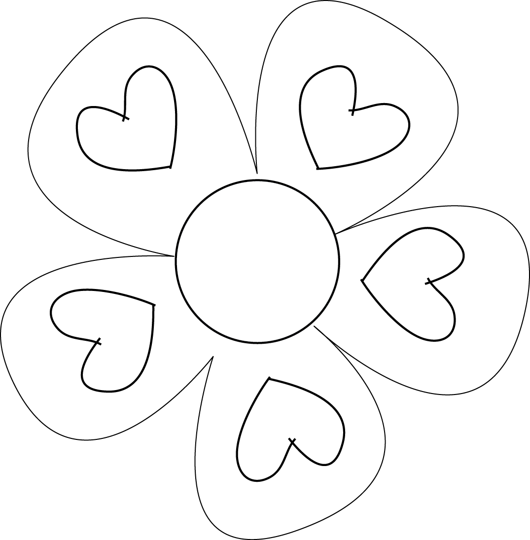 Free Blank Flower Template Download Free Clip Art Free