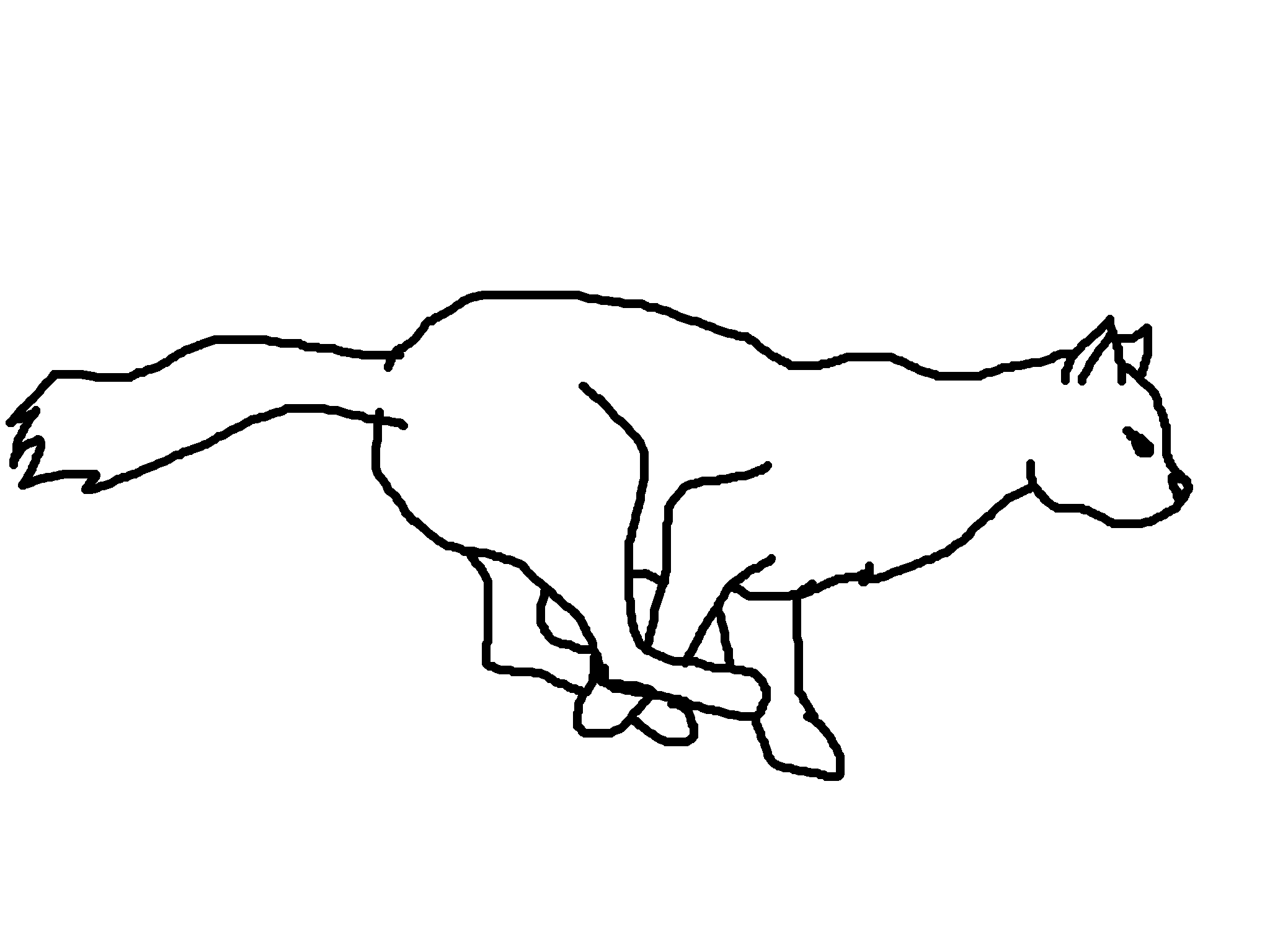 Realistic Running Cat Lineart By Spottedheart22 On Clipart