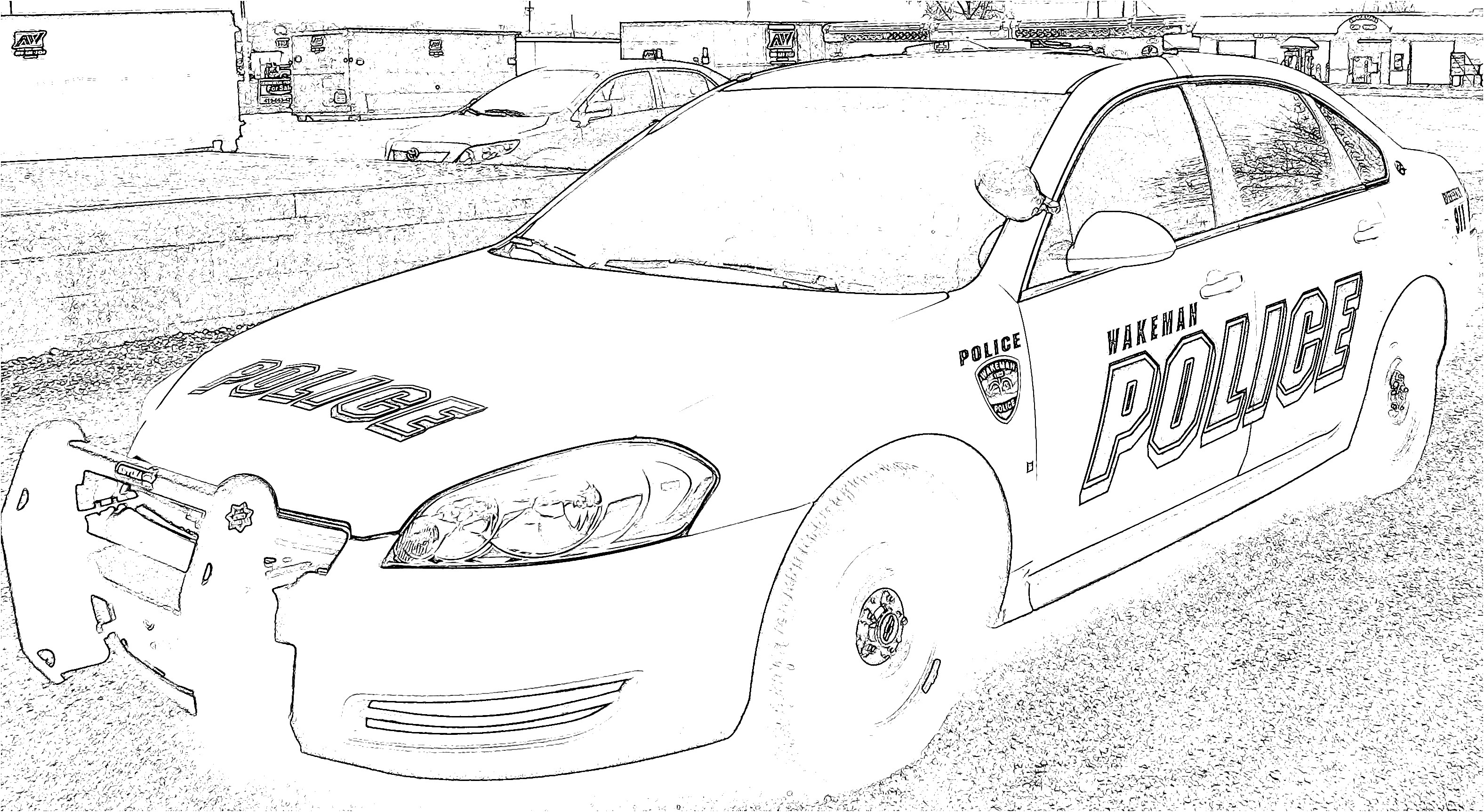Free Colouring Pages Of Police Cars Download Free Clip