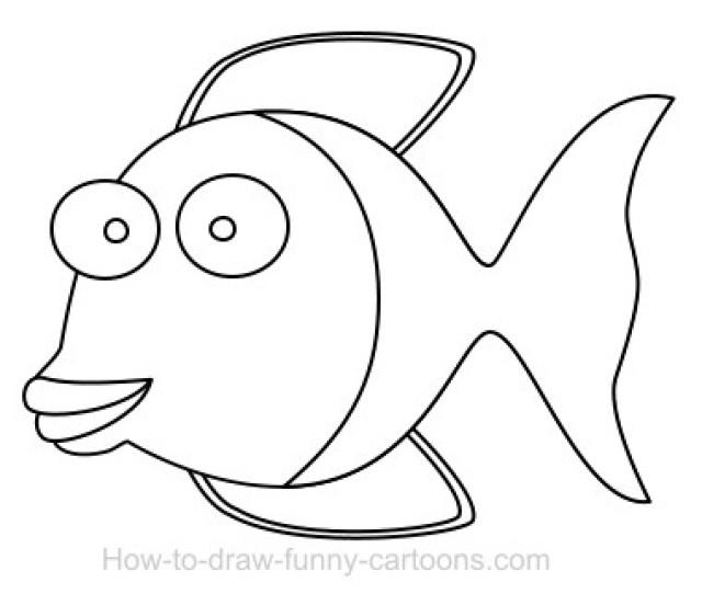 Drawing A Fish Cartoon