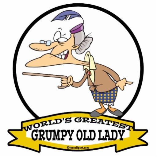 WORLDS GREATEST GRUMPY OLD LADY CARTOON PHOTO CUTOUTS | Zazzle