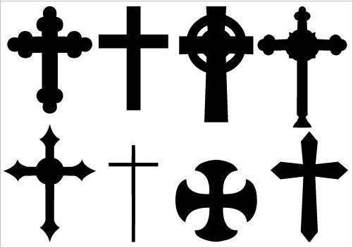 Cross Silhouette Clip Art PackSilhouette Clip Art