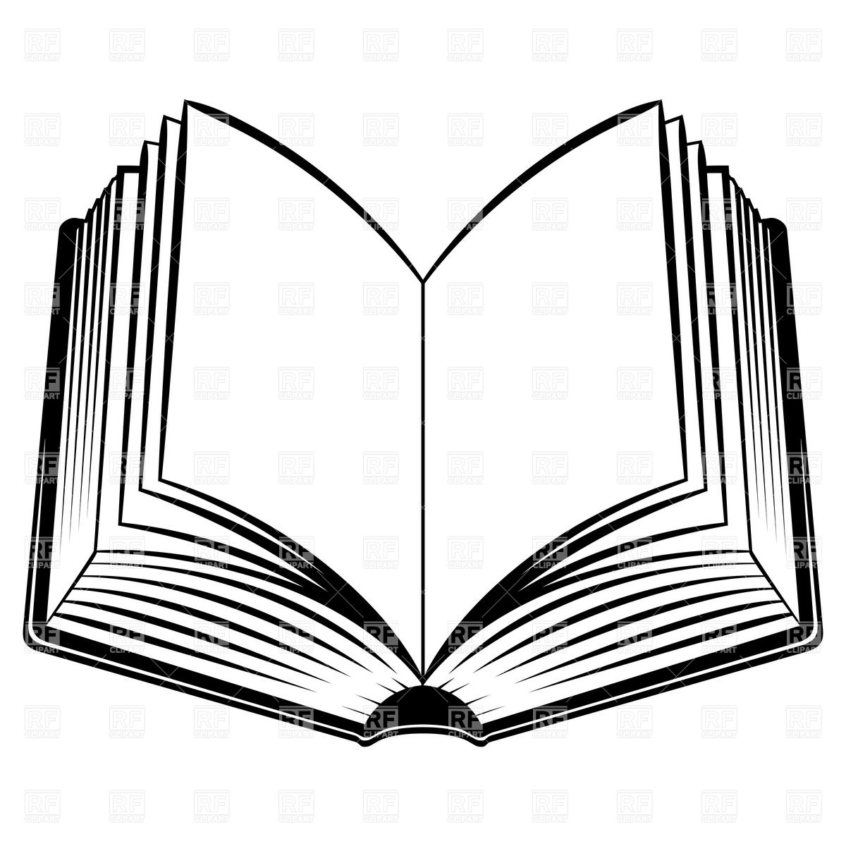 Open Book Outline Clipart Clipart Library