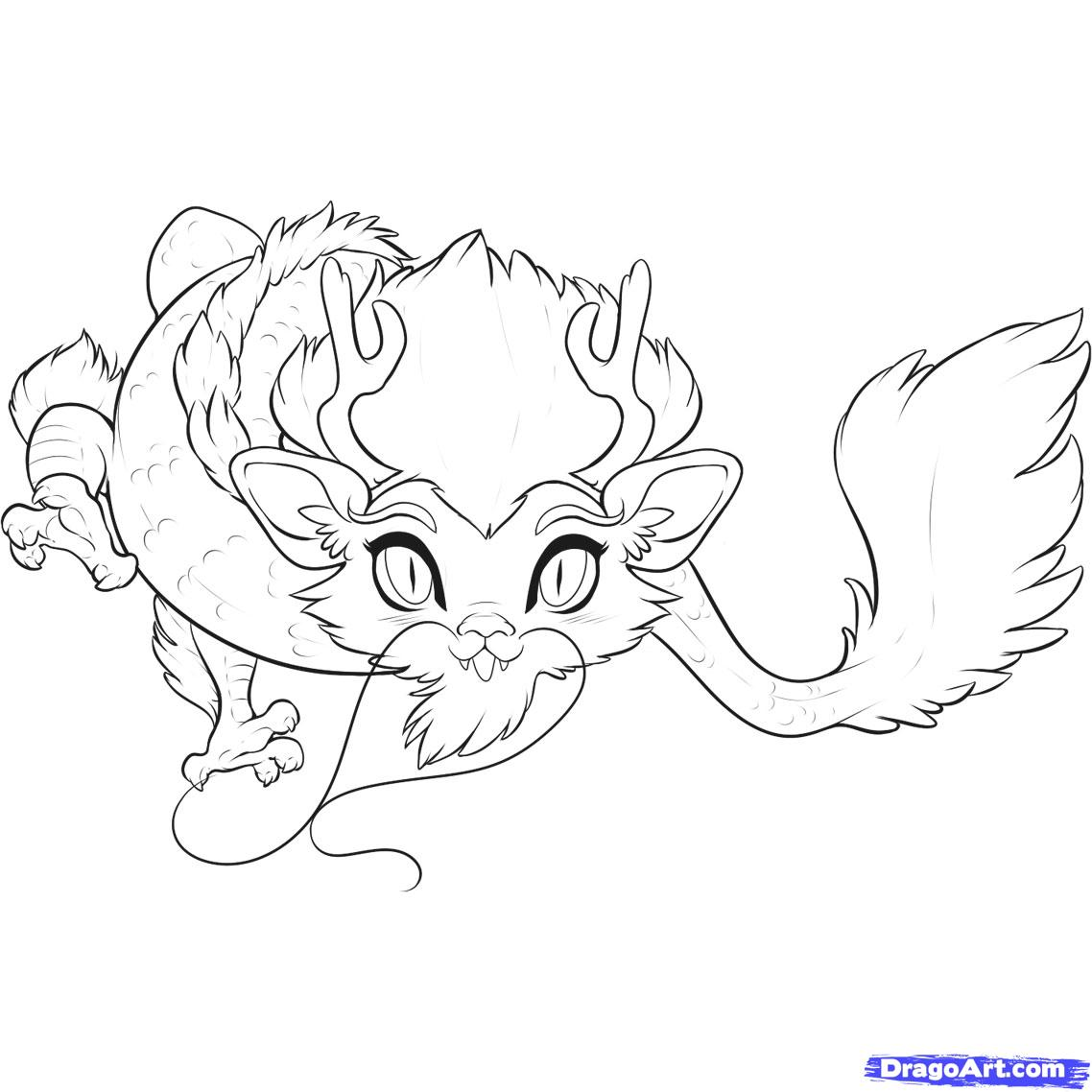 How To Draw A Chibi Chinese Dragon Step By Step Chibis