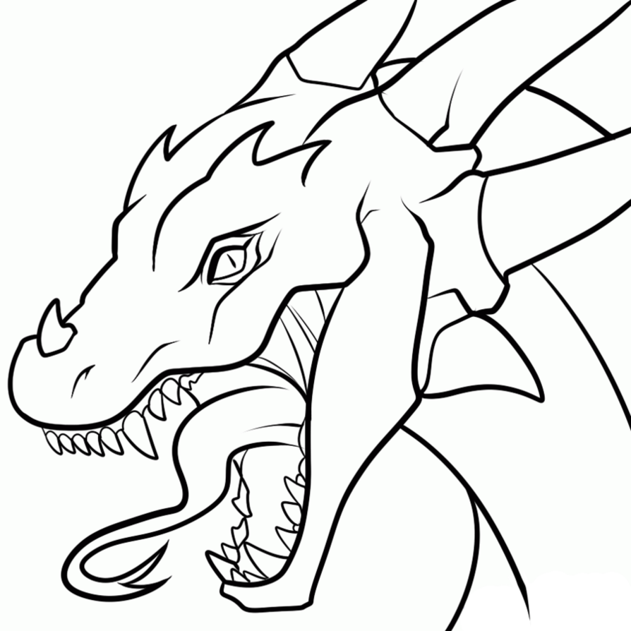 Free Dragon Line Art Download Free Clip Art Free Clip Art On Clipart Library