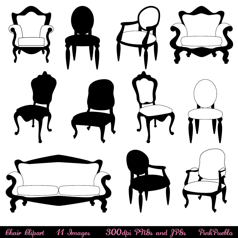 Chair Clip Art Clipart Chair Silhouettes Furniture By