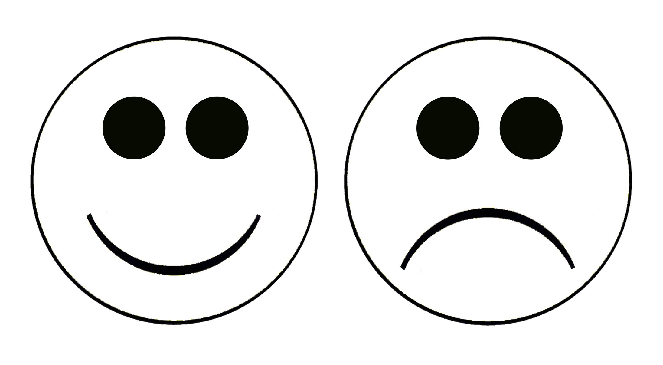 Happy And Sad Face Clip Art