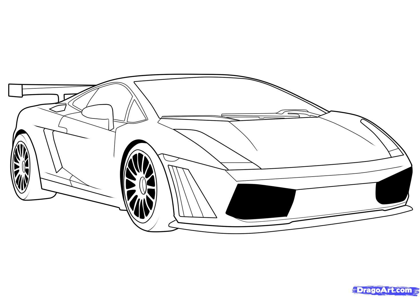 Cars Drawings Lamborghini