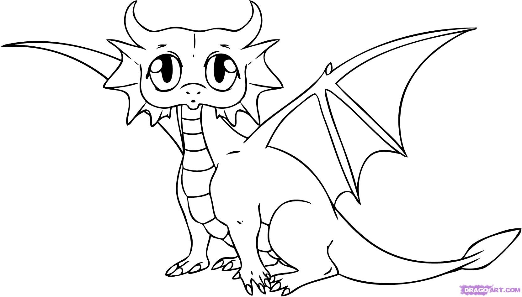 How To Draw A Cartoon Dragon Step By Step Dragons Draw