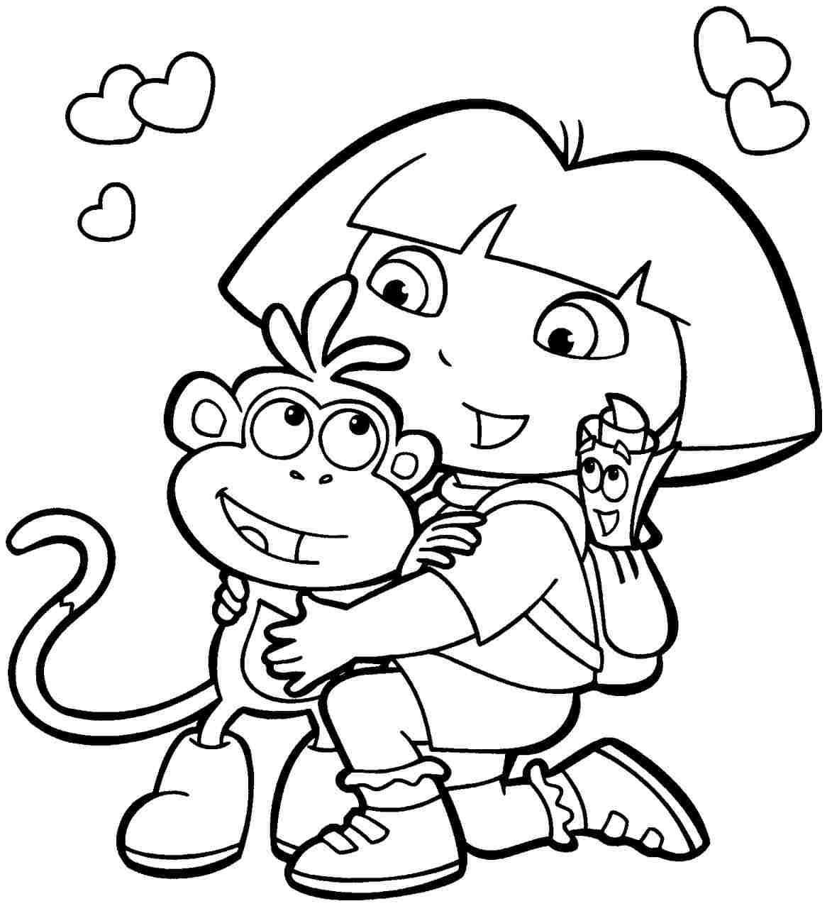 Printable Cartoon Characters Coloring Pages Cartoon Coloring