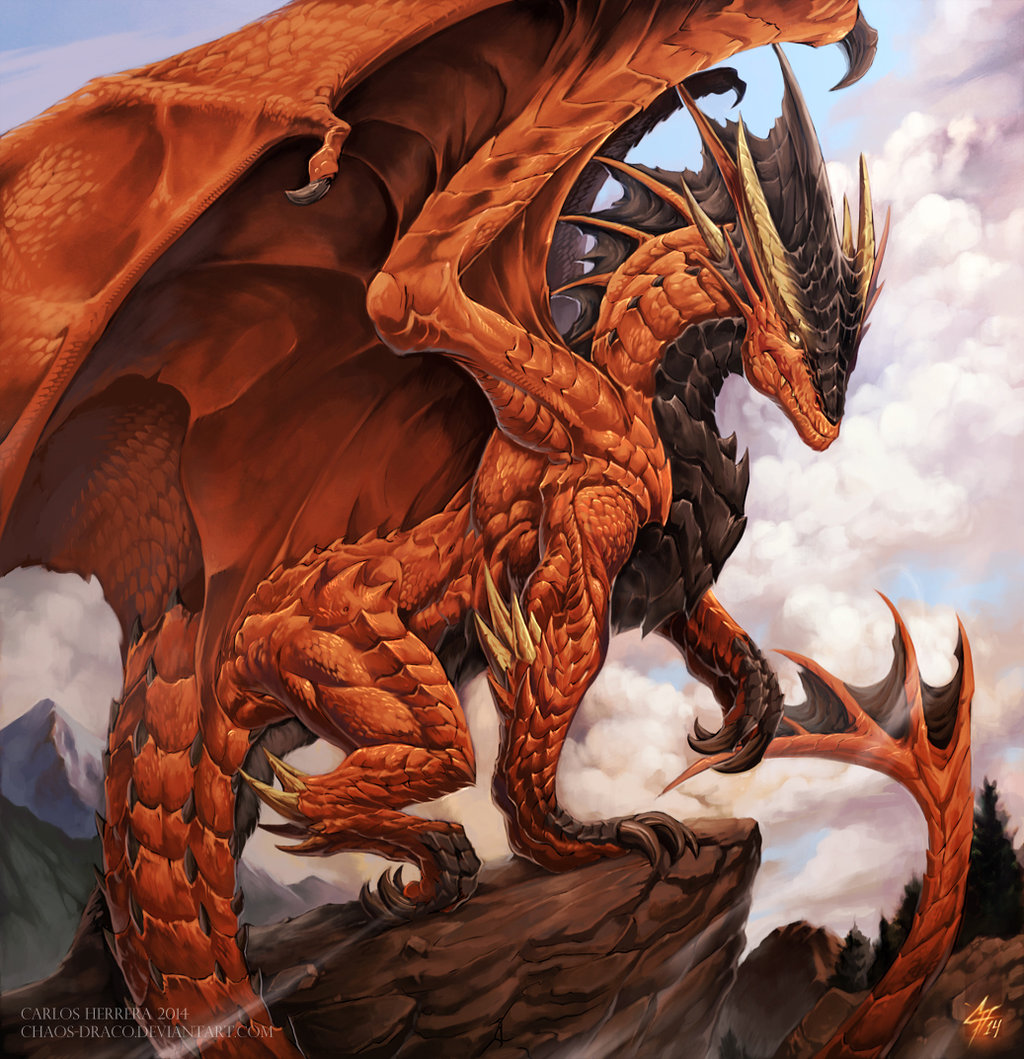 Red dragon by YamiGriffin on Clipart library