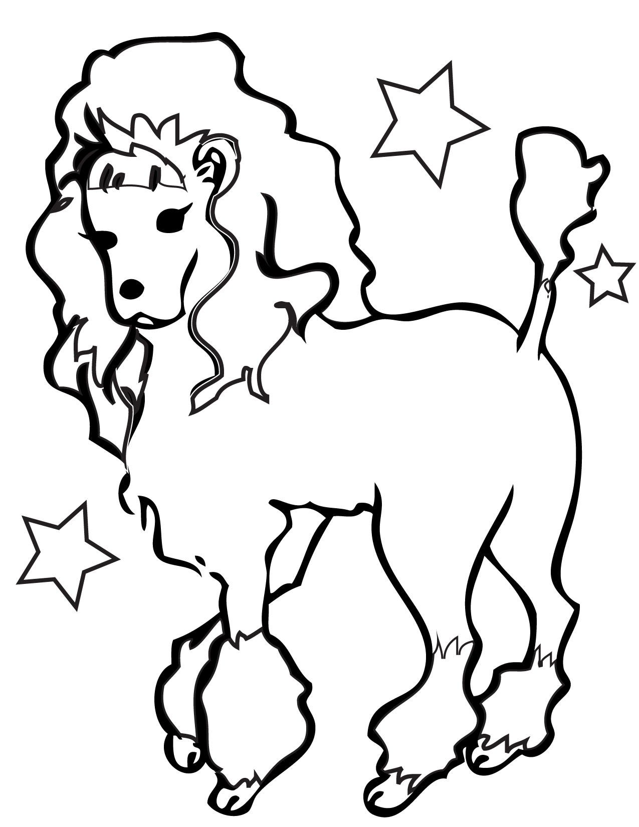 Free How To Draw A Cartoon Poodle Download Free Clip Art
