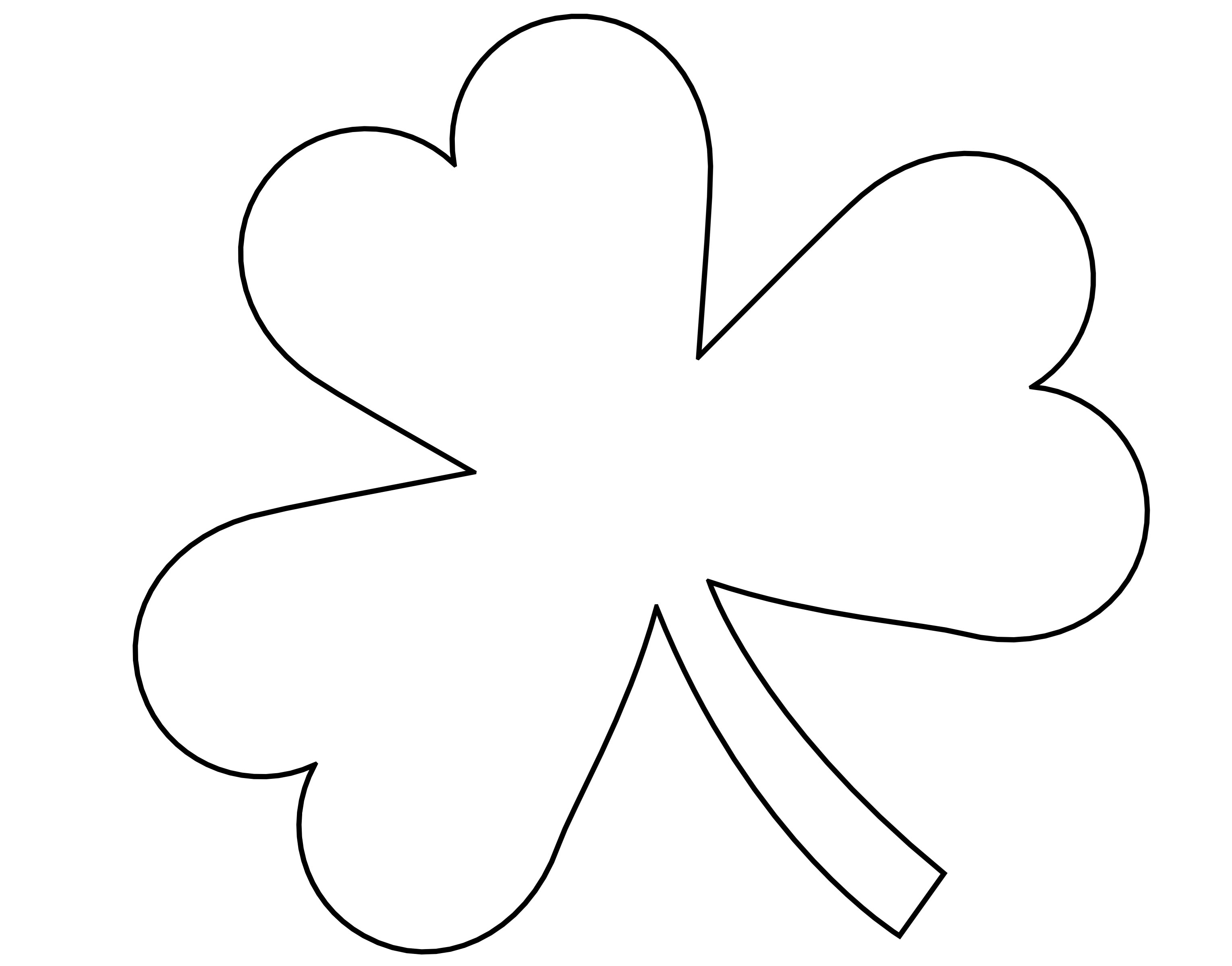 Free Outline Of Shamrock Download Free Clip Art Free