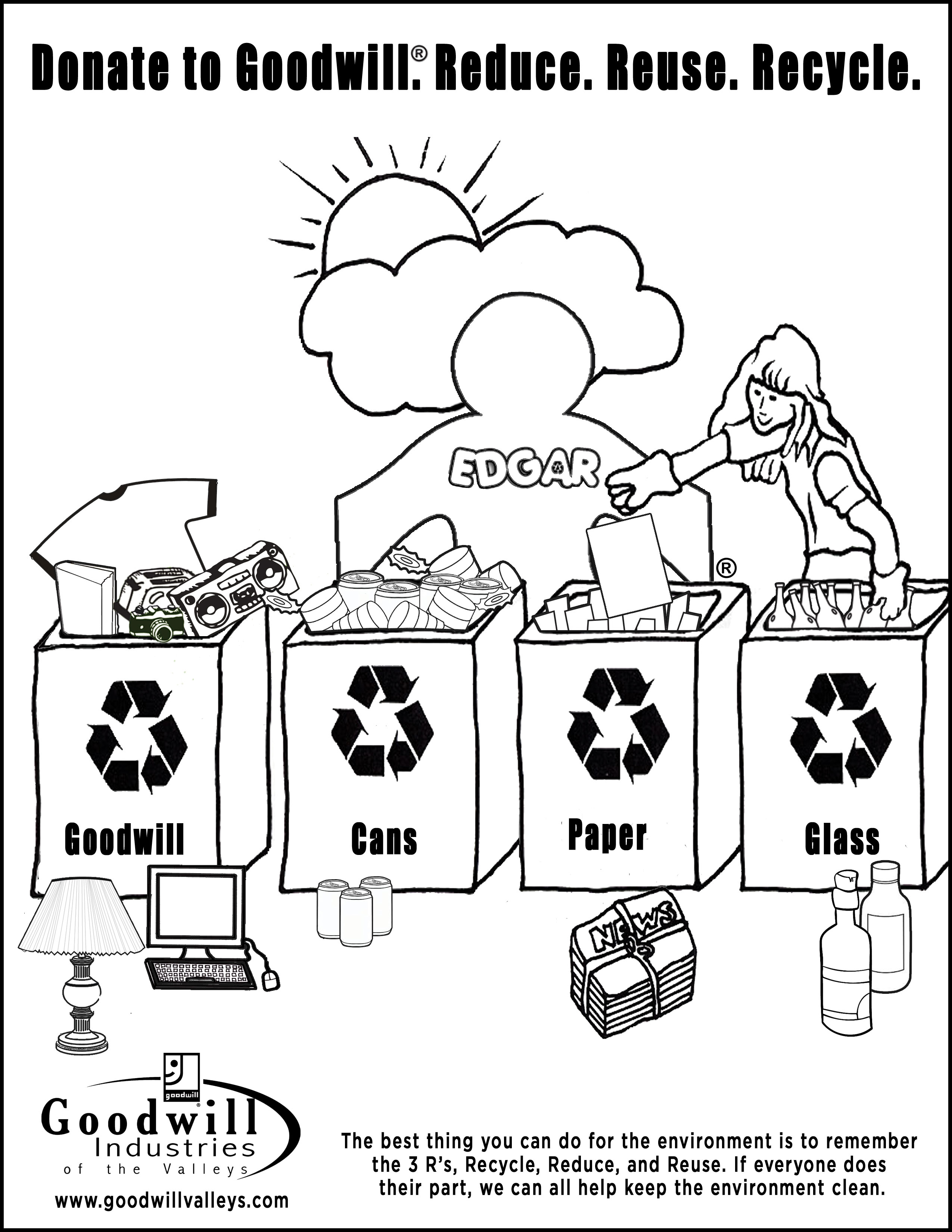 Free Recycle Coloring Pages Download Free Clip Art Free