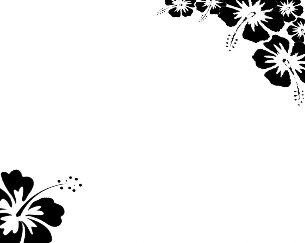 Free Page Border Designs Flowers Black And White Download