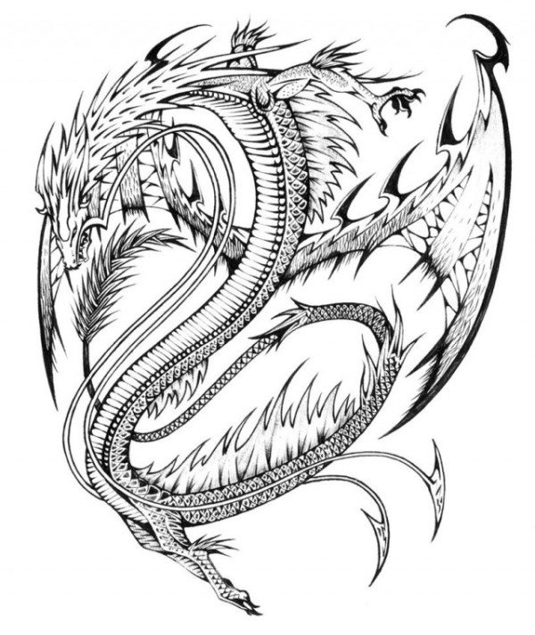 coloring pages dragon # 47
