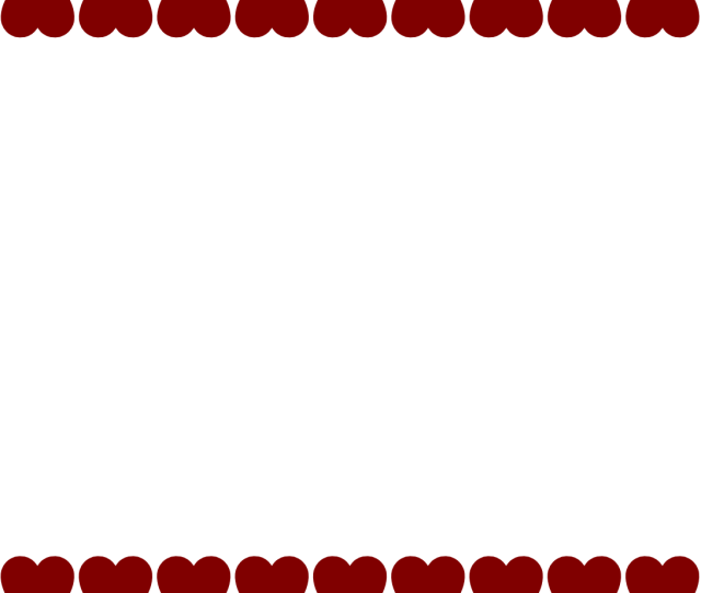 Love Heart Border Clipart Library